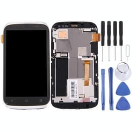 voor HTC Desire X LCD-scherm en Digitizer met Frame(Silver)
