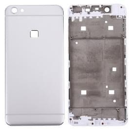 Vivo X 6 batterij achterste schutblad + Front behuizing LCD Frame Bezel Plate(Silver)