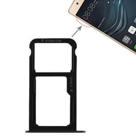 SIM-kaarthouder + SIM-kaarthouder / Micro SD-kaart voor Huawei P9 Lite(Black)