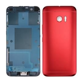Full housing Cover (Front behuizing LCD Frame Bezel plaat + achtercover) voor HTC 10 / One M10(Red)