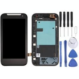 Dual SIM-LCD-scherm en Digitizer met Frame voor HTC Desire 310(Black)