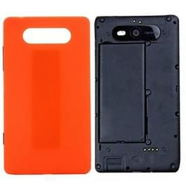 Achterste schutblad voor Nokia Lumia 820 (oranje)