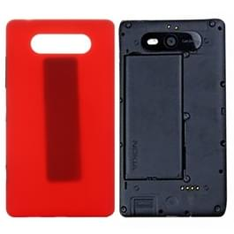 Achterste schutblad voor Nokia Lumia 820 (rood)