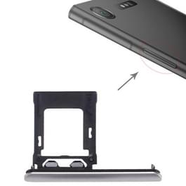 voor Sony Xperia XZ1 SIM / Micro SD-kaart lade  dubbele Tray(Silver)