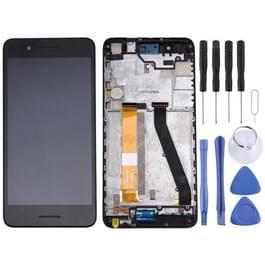 Originele LCD-scherm en Digitizer met Frame voor HTC Desire 728 (zwart)