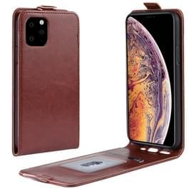 Crazy Horse verticale Flip lederen beschermhoes voor iPhone XI Max (2019) (bruin)