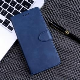 Kalf textuur horizontale Flip lederen case voor Samsung Galaxy A8 (2018)  met houder & card slots & portemonnee (blauw)