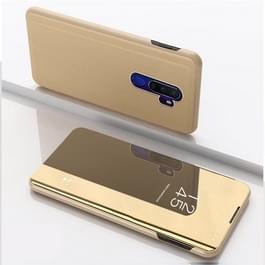 Voor OPPO A9 2020/A5 2020 vergulde spiegel horizontaal Flip leder met standaard mobiele telefoon holster (goud)