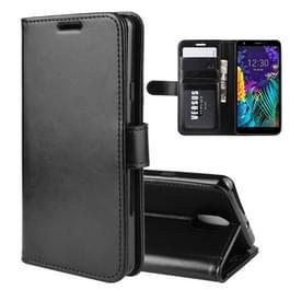 Voor LG K30 2019/x2 (2019) textuur één fold horizontale Flip lederen draagtas met houder & kaartsleuven & portemonnee (zwart)