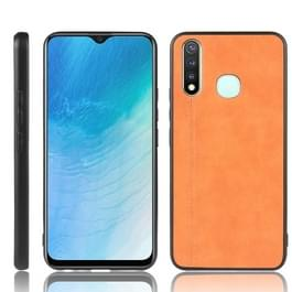 Voor Vivo Y19 Shockproof Naaikoe Patroon Skin PC + PU + TPU Case(Orange)
