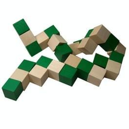 2 stks houten verscheidenheid decompressie Magic Snake liniaal kinderen educatief speelgoed