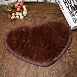 Hart vorm non-slip bad Mats keuken tapijt Home Decoratie  grootte: 30 * 40CM (koffie)