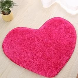 Hart vorm non-slip bad Mats keuken tapijt Home Decoratie  grootte: 70 * 80CM (magenta)