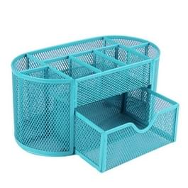 Bureau Organizer 9 rasters metalen mesh Office pen potlood houder (blauw)