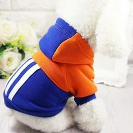 Pet zachte winter warme Pet hond kleren sport Hoodies voor kleine honden Chihuahua mopshond Franse Bulldog kleding puppy hond jas jas (donkerblauw)