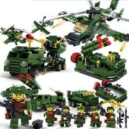 KAZI 6 in 1 Sets militaire leger veld krachten bouwsteen educatief speelgoed  leeftijd: 6 jaar oude boven