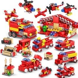 KAZI 16 in 1 Sets Fire Station Building Blocks compatibele stad Firefighter educatieve bouw bakstenen speelgoed  leeftijd: 6 jaar oude boven