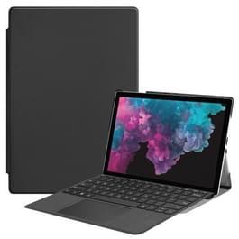 Custer textuur horizontale Flip PU lederen Case voor Microsoft Surface Pro 4 / 5 / 6 12 3 inch  met houder & Pen Slot(Black)