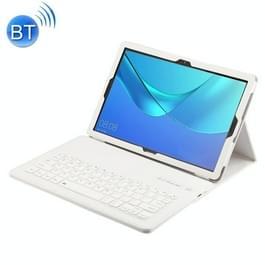 Afneembare Bluetooth-toetsenbord + Litchi textuur horizontale Flip lederen case voor Huawei MediaPad M5 Pro/M5 10 8 inch  met houder (wit)