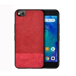 Schokbestendige splicing PU + doek beschermhoes voor Xiaomi Redmi Go (rood)