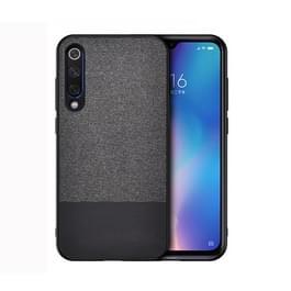 Schokbestendige splicing PU + doek beschermhoes voor Xiaomi mi 9 (zwart)