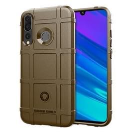 Schokbestendig Rugged Shield volledige dekking beschermende siliconen case voor Huawei Maimang 8 (bruin)