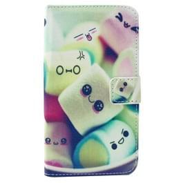 Mooie Marshmallow patroon horizontaal spiegelen lederen hoesje ontmoette Card Slots & portemonnee & houder voor Samsung Galaxy Grand Prime / G530H / G5308