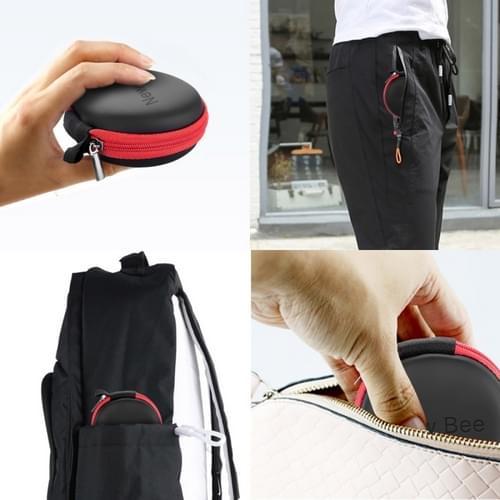 0bbbfbde472 NewBee EVA waterdichte tas opbergdoos met Carabiner voor hoofdtelefoon /  luidspreker & gegevens Line(Black