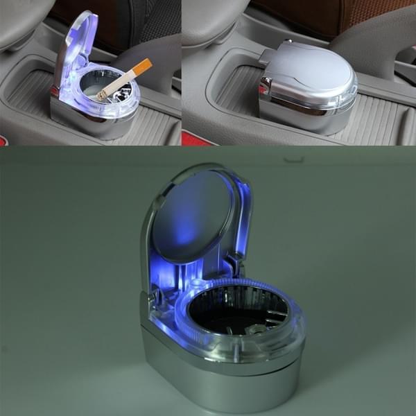 shunwei sd 1201 mini draagbare auto asbak blauwe led verlichting voor dashboard cigar cigarette