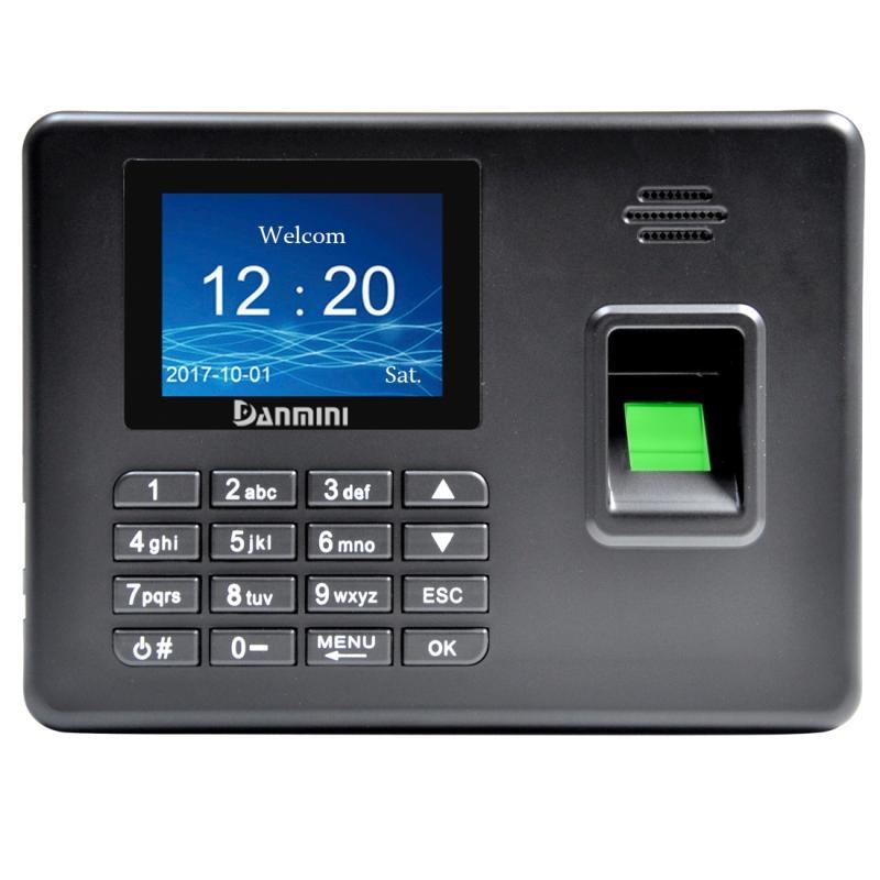 Afbeelding van A3 2 8 inch kleur TFT scherm biometrische vingerafdruk Time Attendance USB-communicatie Office Time Attendance klok (zwart)