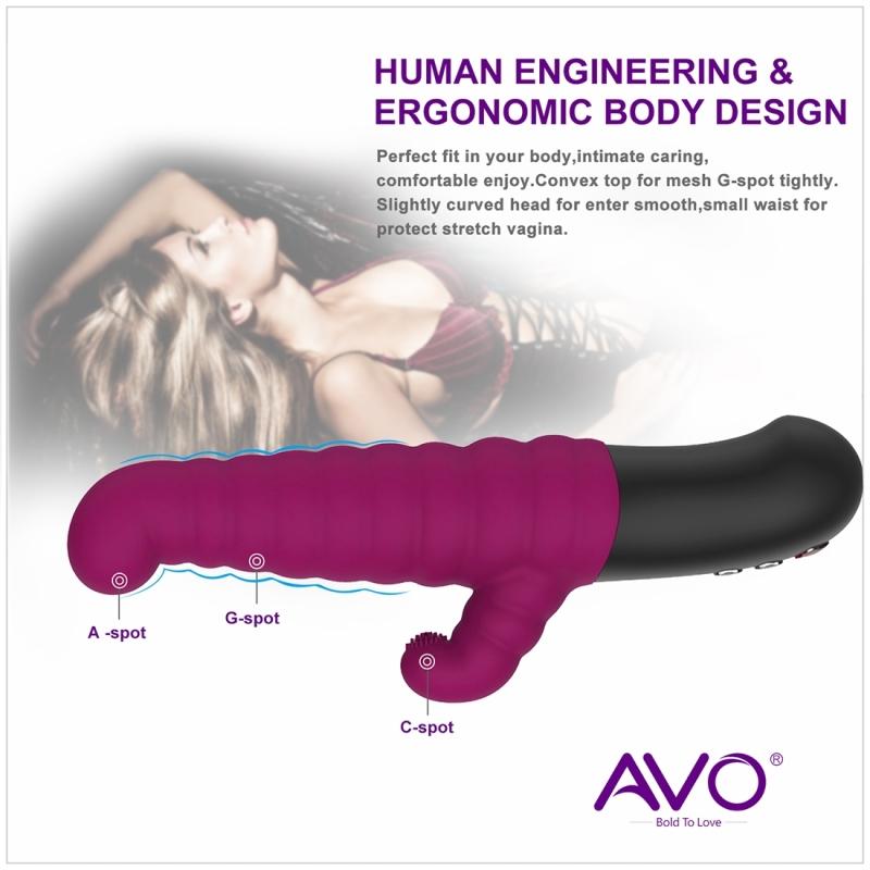 Afbeelding van AVO A2 telefoon APP controle automatische stak & trillingen Pulsatiesysteem volwassen speelgoed grootte: 23.4*4.5cm(Purple)