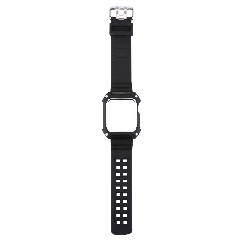 For Apple Watch 42mm Watch Rubber Watchband Plastic + Rubber Frame  Length: 16-23cm(White)