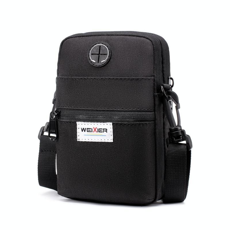 Afbeelding van WEIXIER 8608 multifunctionele mobiele telefoon tas outdoor sport sport taille tas één Schoudertas (zwart)