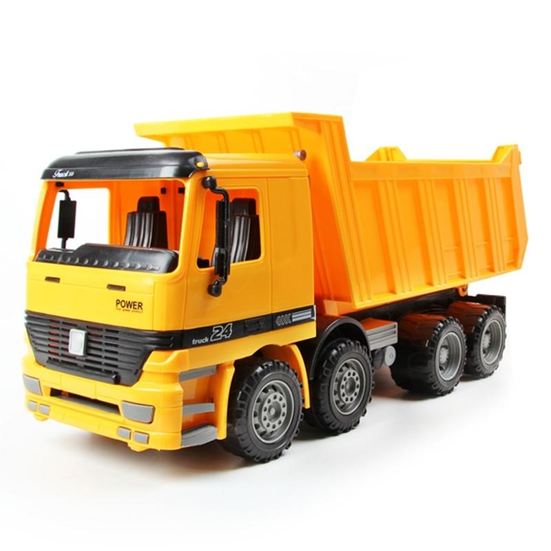 Afbeelding van 9998-2 model auto speelgoed grote dump truck kinderen speelgoed (geel)