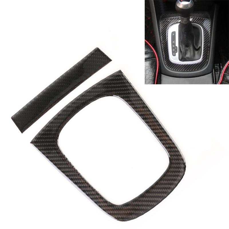 Afbeelding van 2 stuks Carbon Fiber auto Gear panel decoratieve sticker voor Audi Q3