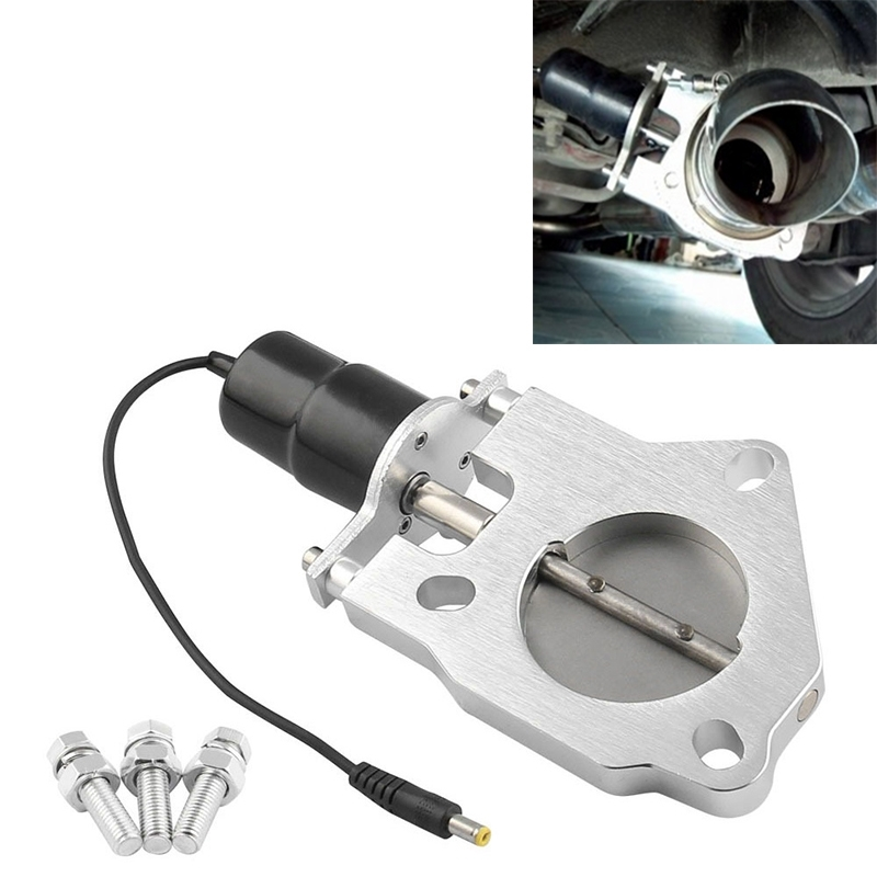 Universal Car 2.5 inch Stainless Steel Racing Electric Exhaust Cutout Valves Control Motor Kit