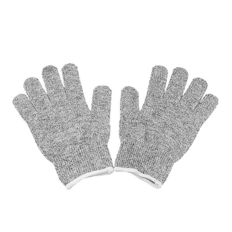 Afbeelding van Een paar gesneden bestendige handschoenen tuinieren handschoenen HPPE niveau 5 weerstand tegen snijden handschoenen Anti slijtage veiligheid werken handschoenen niveau 5 anti-slijtage handschoenen maat: L lengte: 24 cm