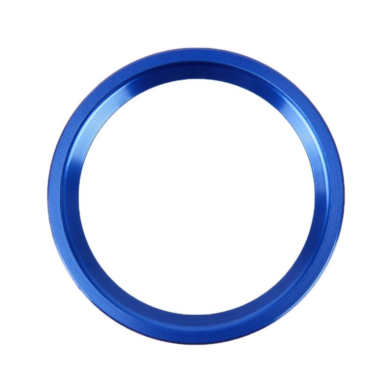 Afbeelding van Auto Motor Start belangrijke drukknop Ring Trim aluminiumlegering Sticker decoratie voor Audi(Blue)