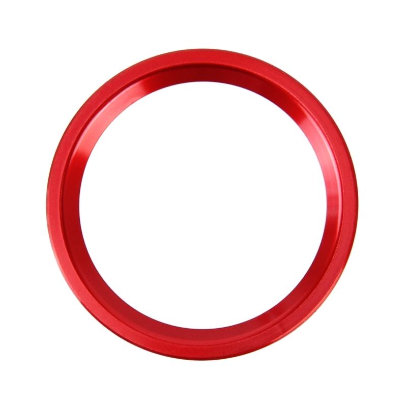 Afbeelding van Auto Motor Start belangrijke drukknop Ring Trim aluminiumlegering Sticker decoratie voor Audi(Red)