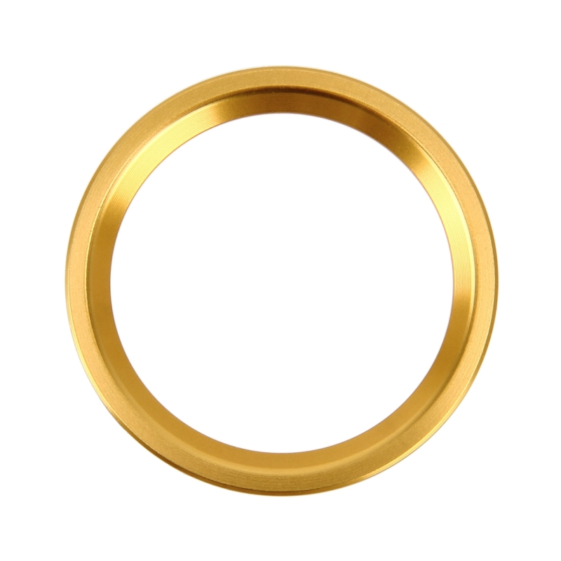 Afbeelding van Auto Motor Start belangrijke drukknop Ring Trim aluminiumlegering Sticker decoratie voor Audi(Gold)