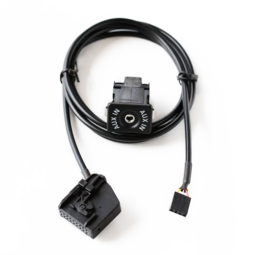 Afbeelding van AUX Adapter schakelen Plug + bedrading hardheid voor Volkswagen Audi MFD2 RNS2 / Ford kabel lengte: 1.5m