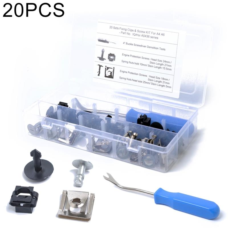 Afbeelding van 20 sets onder motor / versnellingsbak dekken vaststelling Montage Clips & schroef Kit voor Audi / Volkswagen