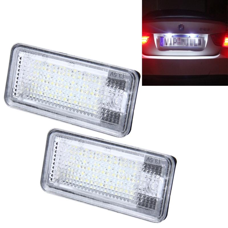 Afbeelding van 2 PC's License Plate licht met 24 SMD-3528 lampen voor Audi