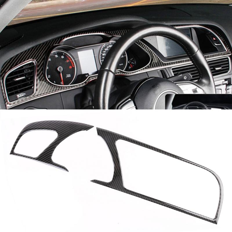 Afbeelding van 2 stuks auto Carbon Fiber navigatie decoratieve frame voor Audi A5