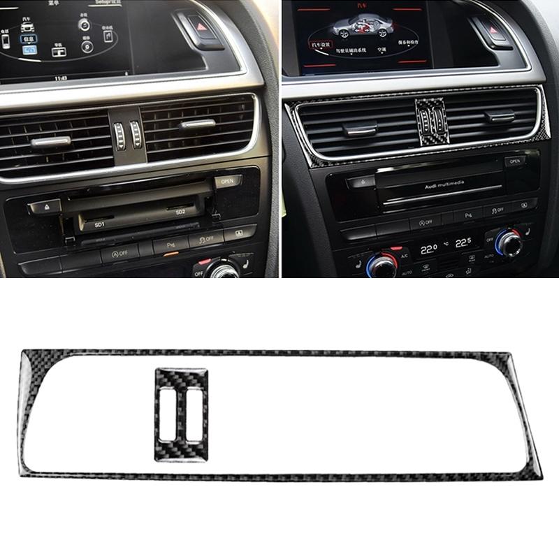 Afbeelding van 2 in 1 auto Carbon Fiber Air conditioning luchtuitlaat frame decoratieve sticker voor Audi A4 B8 2009-2016/A5 2008-2017/Q5 2009-2017 & #8203;