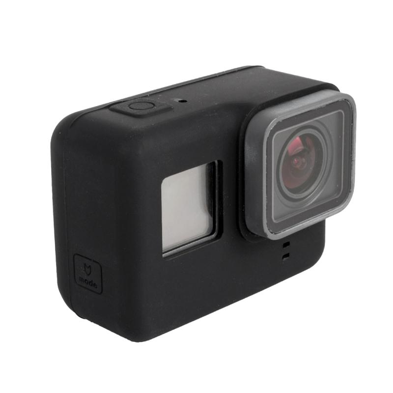 Voor GoPro HERO 5 siliconen behuizing beschermings hoesje Cover Shell(zwart)