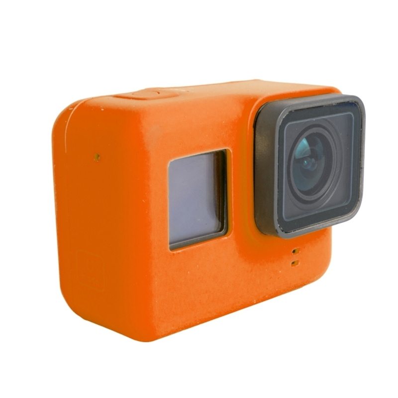 Voor GoPro HERO 5 siliconen behuizing beschermings hoesje Cover Shell(Oranje)