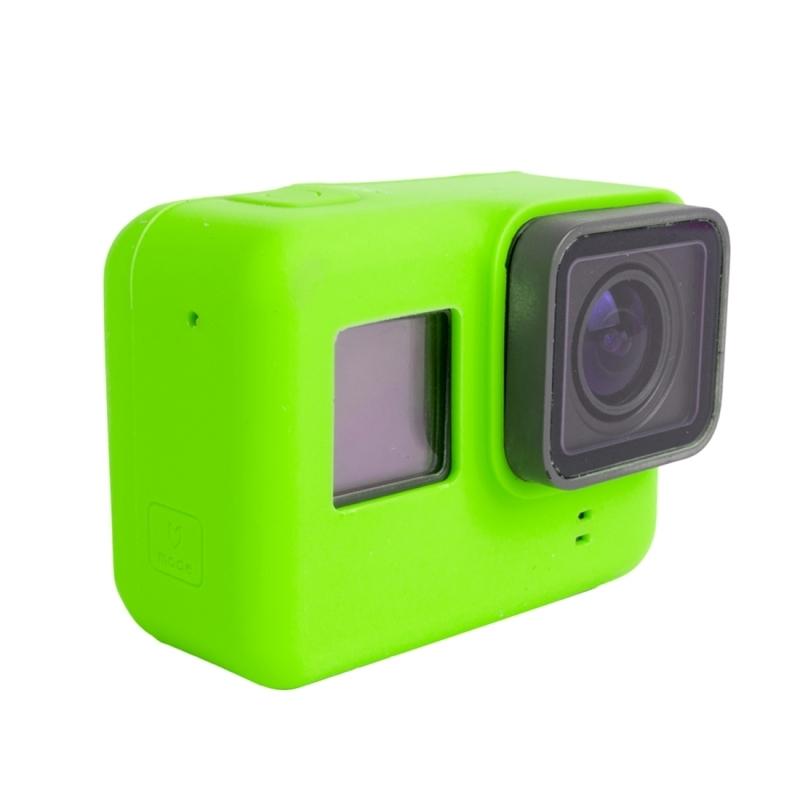 Voor GoPro HERO 5 siliconen behuizing beschermings hoesje Cover Shell(groen)