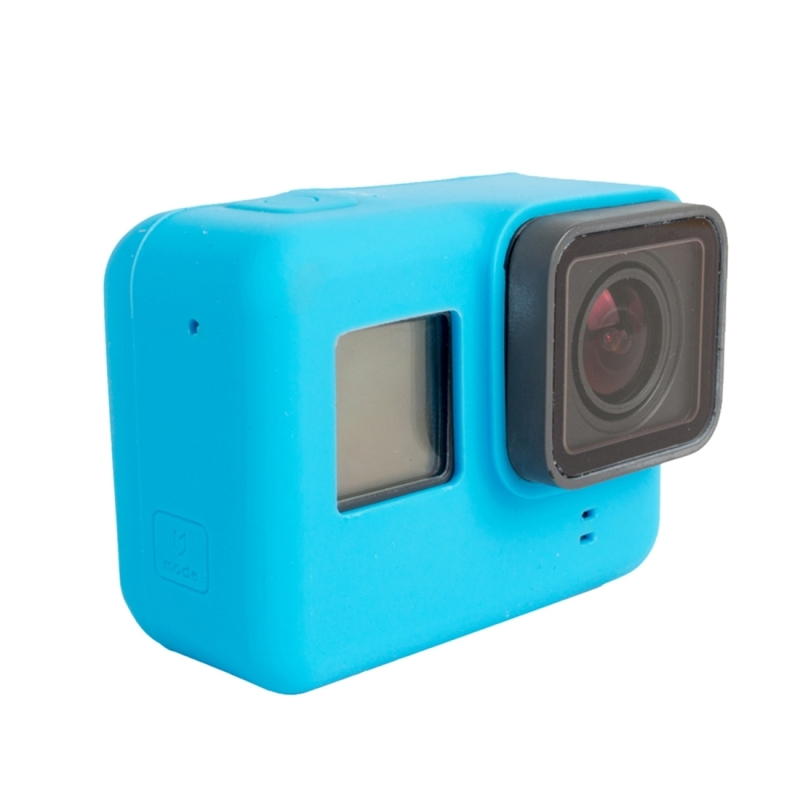 Voor GoPro HERO 5 siliconen behuizing beschermings hoesje Cover Shell(blauw)
