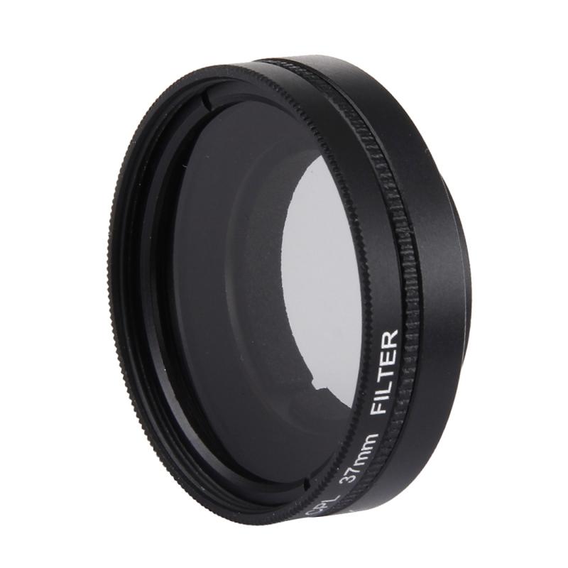 JUNESTAR voor Xiaomi Xiaoyi Yi II 4K Sport actie Camera Proffesional 37mm CPL Filter + Lens beschermings Cap